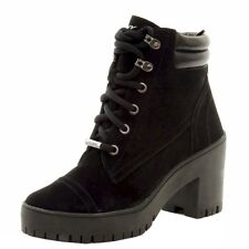 Donna Karan DKNY Women's Shelby Fashion Black Lace Up Boots Shoes