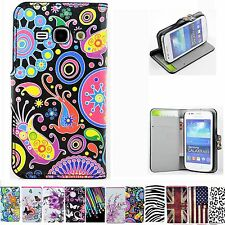 Flip Leather Wallet Accessory Skin Cover Case For Samsung Galaxy Ace 3 III S7272