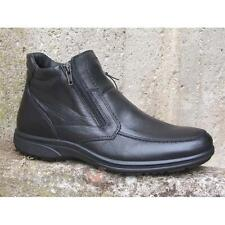 Shoes Enval soft Man 48980 Ankle Boots Made in Italy Leather Black Comfort Moda