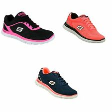 Skechers SK11728 Flex Appeal Womens/Ladies Shoes/Lace-up Trainers