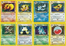 Pokemon cards Jungle set RARE HOLO (Pidgeot Snorlax Flareon Jolteon Scyther etc)