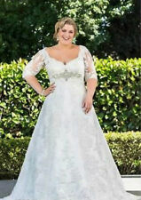 Plus-size New White/Ivory Wedding dress Bridal gown Custom :16 18 20 22 24 26+++