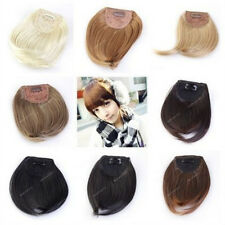 Lady Clip On Clip In Front Hair Bangs Fringe Hair Extension Straight 8Color Pick
