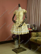 Victorian Gothic Lolita Ruffle Dress Steampunk Cosplay Reenactment Costume K033