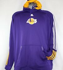 NEW Mens ADIDAS Los Angeles Lakers NBA Purple Pre Game Pull Over Hoodie 8828A