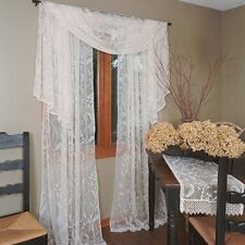 Heritage Lace COVENTRY PANELS , SCARF, VALANCE, With or w/out TRIM, many lengths