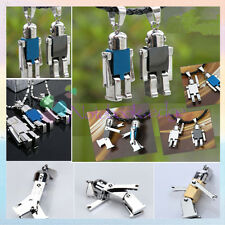 Romantic Lover Gift Punk Stainless Steel Robot Pendant Fit Necklace Chain Bag