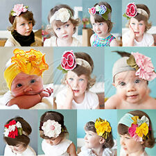 Hot !! Baby Girl Infant Toddler Lovely Colorful Flower Hair Band Cotton Headband