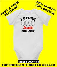 BABY ONE PIECE, ROMPER. ONESIE printed with FUTURE AUDI DRIVER on quality romper
