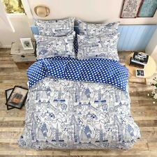 Travel World Single Double Queen King Size Bed Set Pillowcases Quilt Duvet Cover