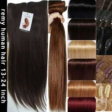 "22"" Double Weft Human Hair Extensions Highlight AU Stock Black Brown Blonde Amy"