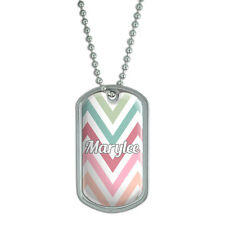 Dog Tag Pendant Necklace Chain Names Female Maryl-Me