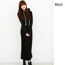 Super warm Fleece Hoodie Sweatshirts Slim Pullover Bodycon Sweater Long Dress