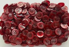 Dark Red Pearlescent Swirl Patterned 20mm 18mm 15mm 4 Hole Polished Buttons