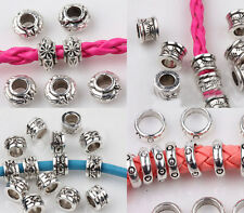 New Wholesale Tibet Silver Disc Carved Loose Spacer Beads Charm Finging 5/6/8mm