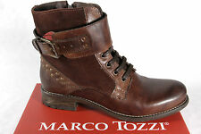 Marco Tozzi Ladies Ankle Boots Lace up Boots, Boots, RV, brown 25241 NEW