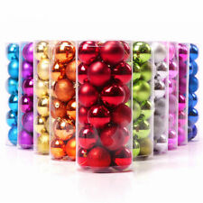 24PCS 4CM Christmas Tree Colourful Balls Baubles Xmas Party Decorations home UK