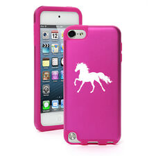 For iPod Touch 5th 6th Shockproof Hard Aluminum Soft Silicone Case Cover Horse