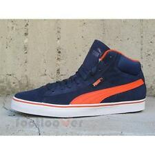 Shoes Puma 1948 mid vulc 358769 02 sneakers man casual moda Suede Navy Orange