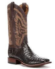 LUCCHESE Since 1883 M4539 TWF MENS CIGAR BROWN HORNBACK CAIMAN CROCODILE BOOTS