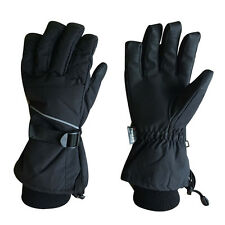 Sized Men Thinsulate Lined Winter Ski Snowboard, Cold Weather Gloves Black