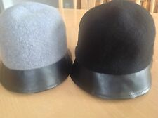$32 (NWT) August Womens Gray Faux Leather Rim Cloche Hat One Size