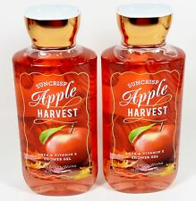 2 Bath & Body Works SUNCRISP APPLE HARVEST Shower Gel - Body Wash NEW!