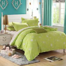 Green Fresh Single Double Queen Size Bed Set Pillowcase Quilt Duvet Cover New