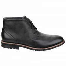 Rockport LEDGE HILL 2 Mens Lace Leather Ankle Smart Office Chukka Boots Black