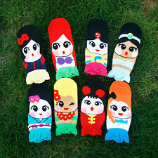 Korean Womens Retro Vintage Cute Cartoon Girls Cotton Ankle Low Cut Ship Socks
