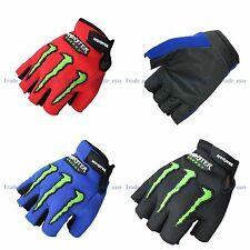 Outdoor Sports Cycling Bicycle bike Gel Half Finger Fingerless Gloves