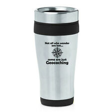Stainless Steel Insulated 16oz Travel Mug Coffee Cup Geocaching
