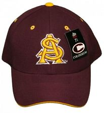 New! Arizona State University Curved Bill Fitted Hat 3D Embroidered Cap
