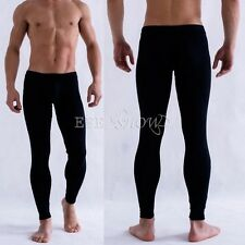 Men's Smooth Bulge Pouch Long Johns Thermal Pants Underwear Low Rise Underpants