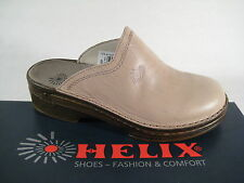 Helix Clogs Mules Mules Slippers Beige/Stone Real Leather