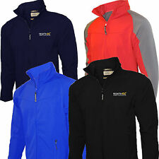 Mens Regatta Jacket Soft Shell Synchro Stretch Wind Resistant Water Repellent