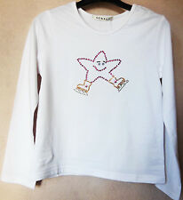 NEW GIRLS Ice Skating Dress T-Shirt with Funky Crystal Star Motif- Various sizes