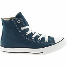 BOYS GIRLS INFANTS CONVERSE NAVY HI TOPS ALL STAR UNISEX CANVAS BOOTS 7J233