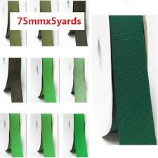 """by 5 Yards Grosgrain Ribbon 3"""" / 75mm for Wide Wedding, Lime to green"""
