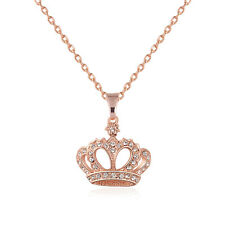 New Arrival Princess Crown Pendant bib Women Lady gift Crystal CZ Necklace Chain