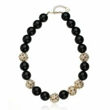 Riccova Womens' Crystal Flower Ball and Enamel Bead Fashion Statement Necklace