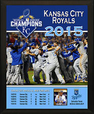 "KANSAS CITY ROYALS 2015 World Series Champions Commemorative 8x10"" Plaque"