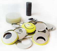 "1-1/2"" Complete PF CERAMIC MAGNET Button Parts Metal Flat Back w/ Hole 1.5"""