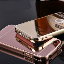 Luxury Slim Ultra-Thin Aluminum Bumper Mirror Back  Case For Apple iPhone 4/4S
