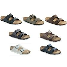 Birkenstock Arizona Sandals Birko Flor - white bronw blue black - narrow regular