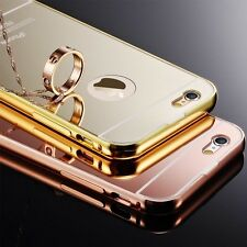 Luxury Ultra-Thin Aluminum Bumper Mirror Back Case Pounch For Apple iPhone 5/5S