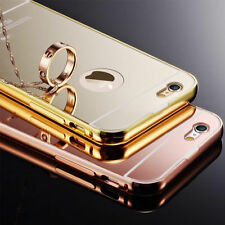 New Luxury Aluminum Ultra Thin Mirror Metal Case Cover Bumper For iPhone Models