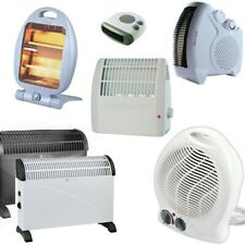 Electric Radiator Convector Heater Fan Halogen Adjustable Wall Thermostat Timer