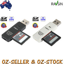 USB 3.0 Memory Card Reader Dual Micro SD SDXC SDHC Multi 2 in 1 High Speed