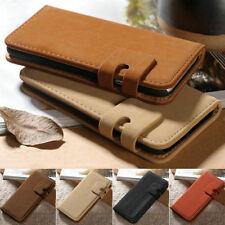 Vintage Soft Leather Flip Stand Card Holder Wallet Case Cover For iPhone Samsung
